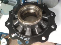Broken wheel hub SAF SAF
