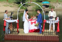Wedding outside the city